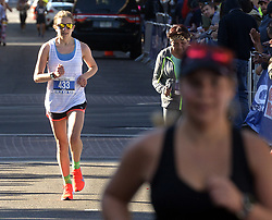 October 21, 2018 - U.S. - SPORTS -- Duke City Women's Marathon winner Ruth Senior of Albuquerque finished in a time of 2:56:37 on Sunday, October 21. (Credit Image: © Greg Sorber/Albuquerque Journal via ZUMA Wire)