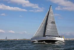 Start Vuurschepenrace. North Sea regatta, Scheveningen, Tuesday 28th of May 2019.