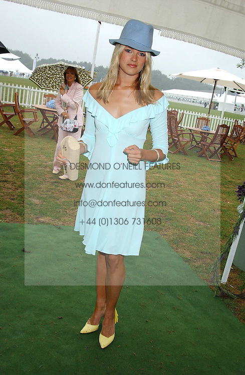 ISABELLA ANSTRUTHER-GOUGH-CALTHORPE at the 2005 Cartier International Polo between England &amp; Australia held at Guards Polo Club, Smith's Lawn, Windsor Great Park, Berkshire on 24th July 2005.<br />