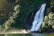 Waterfall in Red Bluff Bay at Baranof Island Alaska