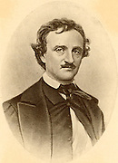 Edgar Allan Poe (1809-1849) American story writer and poet, born at Boston, Massachusetts. Author of Gothick stories of the macabre, mysterious and weird.