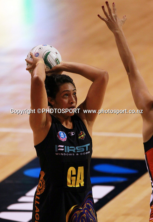 Julianna Naoupu takes a shot at goal for the WBOP team. Canterbury Tactix vs Waikato BOP Magic in Round 8 of the ANZ Championship at CBS Canterbury Arena, Christchurch, New Zealand. Sunday 19 May 2012. Joseph Johnson/PHOTOSPORT.