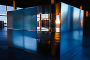 Detail, Donald Judd, 100 Mill Aluminum Boxes, Chinati Foundation