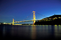 Golden Gate Bridge at twilight.  San Francisco, CA