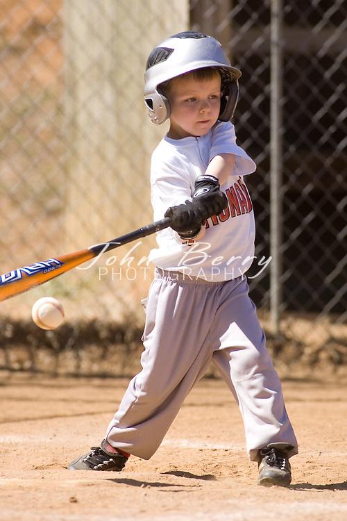 Madison Parks and Rec Baseball.Rookies.Nationals vs Cardinals.4/21/2007