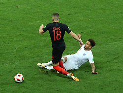 July 11, 2018 - Moscow, Russia - July 11, 2018, Moscow, FIFA World Cup 2018 Football, the playoff round. 1/2 finals of the World Cup. Football match Croatia - England at the stadium Luzhniki. Player of the national team Kyle Walker  (Credit Image: © Russian Look via ZUMA Wire)
