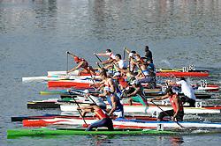 START IN MEN'S C1 5000 METERS FINAL A RACE DURING 2010 ICF KAYAK SPRINT WORLD CHAMPIONSHIPS ON MALTA LAKE IN POZNAN, POLAND...POLAND , POZNAN , AUGUST 21, 2010..( PHOTO BY ADAM NURKIEWICZ / MEDIASPORT ).