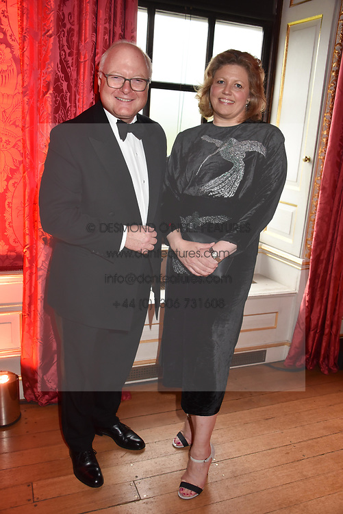 Chairman of the Tusk board Stephen Watson and his wife Emma Watson at the Tusk Ball at Kensington Palace, London, England. 09 May 2019.