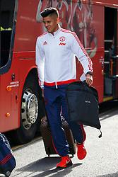 © Licensed to London News Pictures. 20/05/2016. London, UK. Manchester United player MARCOS ROJO and the team arrive at their hotel in Wembley, London on Friday, 20 May 2016, ahead of the FA Cup final against Crystal Palace in Wembley Stadium. Photo credit: Tolga Akmen/LNP