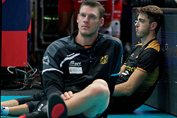 23-09-2019 NED: EC Volleyball 2019 Poland - Germany, Apeldoorn<br /> 1/4 final EC Volleyball - Poland win 3-0 / Tobias Krick #2 of Germany