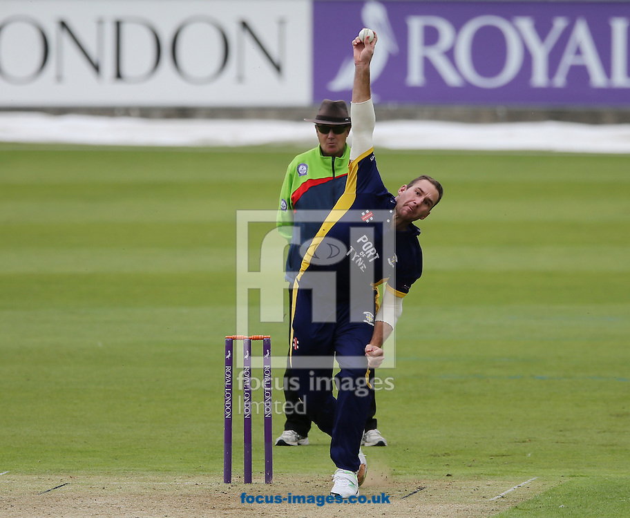 John Hastings of Durham County Cricket Club bowling during the Royal London One Day Cup match at Emirates Durham ICG, Chester-le-Street<br /> Picture by Simon Moore/Focus Images Ltd 07807 671782<br /> 14/08/2014