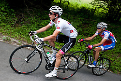 Jan Polanc (SLO) of Radenska and Radoslav Rogina (CRO) of Adria Mobil during Stage 3 from Skofja Loka to Vrsic (170 km) of cycling race 20th Tour de Slovenie 2013,  on June 15, 2013 in Slovenia. (Photo By Vid Ponikvar / Sportida)
