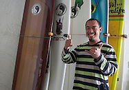 AC, surf instructor and owner of CU Surf Shop, Baishawan, Taiwan