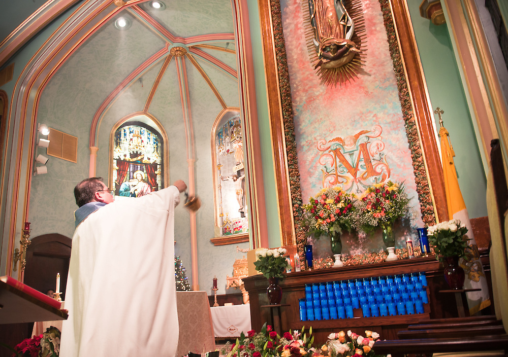 The Festival of Our Lady of Guadalupe (Festival de Nuestra Señora de Guadalupe) is an annual festival celebrated in Mexico during the month of December. The Virgin of Guadalupe is Mexico's patron saint. She is also a familiar figure to the Aztecs as the mother of humankind and the earth goddess.