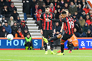 Junior Stanislas (19) of AFC Bournemouth takes a free kick during the EFL Cup 4th round match between Bournemouth and Norwich City at the Vitality Stadium, Bournemouth, England on 30 October 2018.