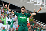 Wicket - Shaheen Afridi of Pakistan celebrates taking the wicket of Tamim Iqbal of Bangladesh during the ICC Cricket World Cup 2019 match between Pakistan and Bangladesh at Lord's Cricket Ground, St John's Wood, United Kingdom on 5 July 2019.