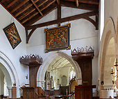 Mildenhall church, Wiltshire, England
