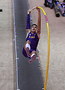Jan 18, 2019; Reno, NV, USA; Armand Duplantis aka Mondo Duplantis of LSU (SWE) competes in the UCS Spirit National Pole Vault Summit at the Reno-Sparks  Livestock Events Center.