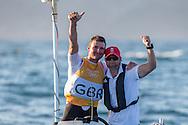 2016 Olympic Sailing Games-Rio-Brazil, ANP Copyright Thom Touw, f-GBR- Giles Scott- Finn, Finn, Gold Medalist, Golden medelist Olympische Spelen Zeilen, Sailing Finn