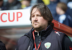 WREXHAM, WALES - Monday, May 2, 2016: The New Saints' manager Craig Harrison before the 129th Welsh Cup Final against Airbus UK Broughton at the Racecourse Ground. (Pic by David Rawcliffe/Propaganda)