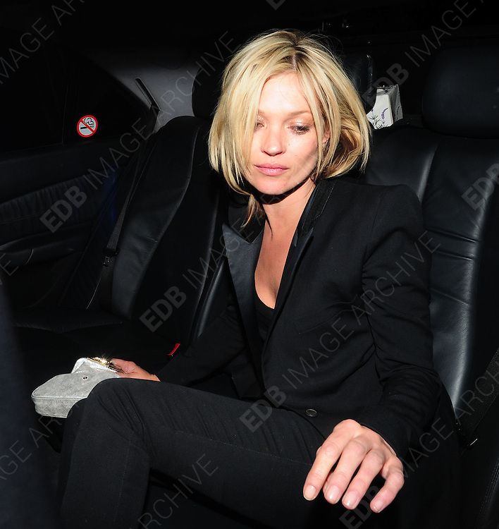18.MARCH.2009 - LONDON<br />  <br /> KATE MOSS ARRIVING AND LEAVING THE MUMMY ROCKS FUNDRAISER FOR GREAT ORMAND STREET HOSPITAL HELD AT THE JEWELLERY STORE, MAYFAIR WITH BOYFRIEND JAMIE HINCE BEFORE GOING FOR A MEAL AT THE RED FORT RESTAURANT, SOHO.<br /> <br /> BYLINE MUST READ : EDBIMAGEARCHIVE.COM<br /> <br /> *THIS IMAGE IS STRICTLY FOR UK NEWSPAPERS &amp; MAGAZINES ONLY*<br /> *FOR WORLDWIDE SALES AND WEB USE PLEASE CONTACT EDBIMAGEARCHIVE - 0208 954-5968*