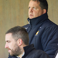 Clare Senior Hurling Manager Davy Fitzgerald watching the action from the press box in Cusack Park on Sunday