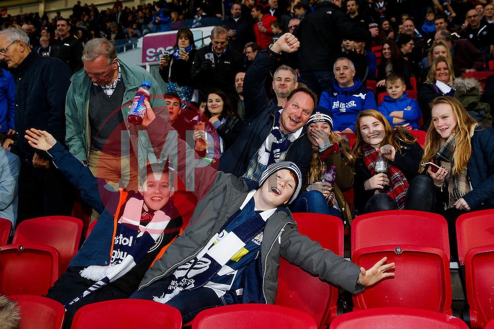 Bristol Rugby supporters - Mandatory byline: Rogan Thomson/JMP - 27/12/2015 - RUGBY UNION - Ashton Gate Stadium - Bristol, England - Bristol Rugby v London Welsh - Greene King IPA Championship.