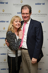 Sky News Political Correspondent Jon Craig with his partner Caroline Edmondson  attend the Opening of the Westminster InterContinental Hotel, Thursday February 28, Photo By Andrew Parsons / i-ImagesJon