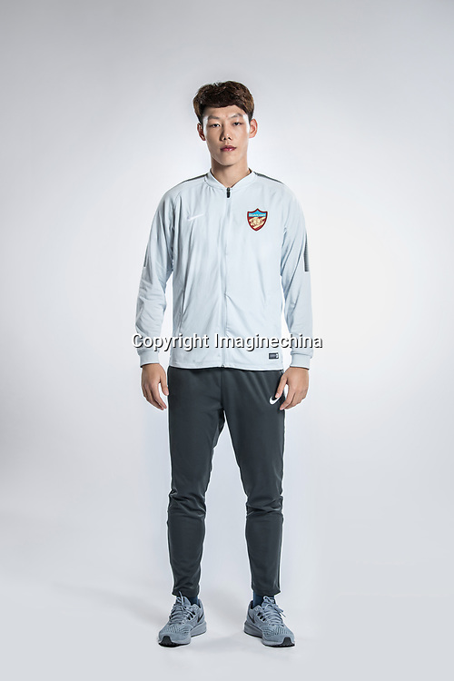 **EXCLUSIVE**Portrait of Chinese soccer player Wen Junjie of Tianjin Quanjian F.C. for the 2018 Chinese Football Association Super League, in Yancheng city, east China's Jiangsu province, 9 February 2018.