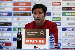 November 10, 2018 - Getafe, Madrid, Spain - Valencia CF's coach Marcelino Garcia during La Liga match between Getafe CF and Valencia CF at Coliseum Alfonso Perez in Getafe, Spain. November 10, 2018. (Credit Image: © A. Ware/NurPhoto via ZUMA Press)