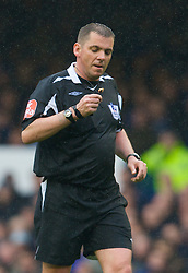 LIVERPOOL, ENGLAND - Sunday, April 27, 2008: Referee Phil Dowd during the Premiership match between Everton and Aston Villa at Goodison Park. (Photo by David Rawcliffe/Propaganda)