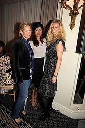 Left to right, GENEVIEVE HOBERMAN, TAS HART and JENNY HALPERN-PRINCE at the In Style Handbag Auction is association with Revlon raising money for the Rainbow Trust children's charity held at the Berkeley Hotel, Knightsbridge, London on 4th November 2008.