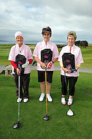 Martina Casserly, Marian Mulryan and Phil Farrell from Tuam Golf Club at the Galway Golf Club for the AIB Ladies Irish Open Club Challenge qualifier..Photo:Andrew DownesPhil Farrell, Martina Casserly and  Marian Mulryan from Tuam Golf Club at the Galway Golf Club for the AIB Ladies Irish Open Club Challenge qualifier..Photo:Andrew Downes