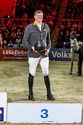 WERNKE Jan (GER)<br /> Siegerehrung<br /> VEOLIA Championat<br /> Int. jumping competition with 1 jump-off (1.50 m) - CSI3*<br /> Comp. counts for the LONGINES Rankings<br /> Braunschweig - Classico 2020<br /> 07. März 2020<br /> © www.sportfotos-lafrentz.de/Stefan Lafrentz