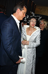 ISABELLA BLOW and MATTHEW MELLON at a party to celebrate the publication of Tatler's Little Black Book 2005 held at the Baglioni Hotel, 60 Hyde Park Gate, London SW7 on 9th November 2005.<br /><br />NON EXCLUSIVE - WORLD RIGHTS