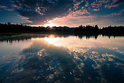 Reflections on Little Molas Lake in the Colorado Rockies, CO