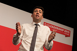 © Licensed to London News Pictures . 25/07/2015 . Warrington , UK . ANDY BURNHAM at the Labour Party leadership hustings at Parr Hall in Warrington . Photo credit : Joel Goodman/LNP