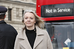 © Licensed to London News Pictures. 12/12/2018. London, UK. Liz Truss arrives at Parliament . Prime Minister Theresa May will face a vote of confidence later after 48 letters were received to trigger a vote. Photo credit: Peter Macdiarmid/LNP