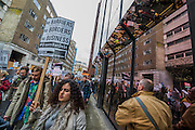 A student march against fees and many other issues starts in Malet Street and heads for Westminster via the West End.