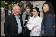 JUAN MARI ARZAK; HELENA RIZZO; ELENA ARZAK; LANSHU CHEN;  , Veuve Clicquot World's Best Female chef champagne tea party. Halkin Hotel. Halkin St. London SW1. 28 April 2014.