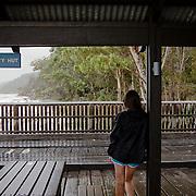 Frazer Island, on the east coast of Australia, is a sand island. Kingfisher Bay Resort.