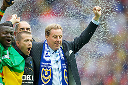 LONDON, ENGLAND - Saturday, May 17, 2008: Portsmouth's manager Harry Redknapp celebrates after his side beat Cardiff City 1-0 during the FA Cup Final at Wembley Stadium. (Photo by David Rawcliffe/Propaganda)