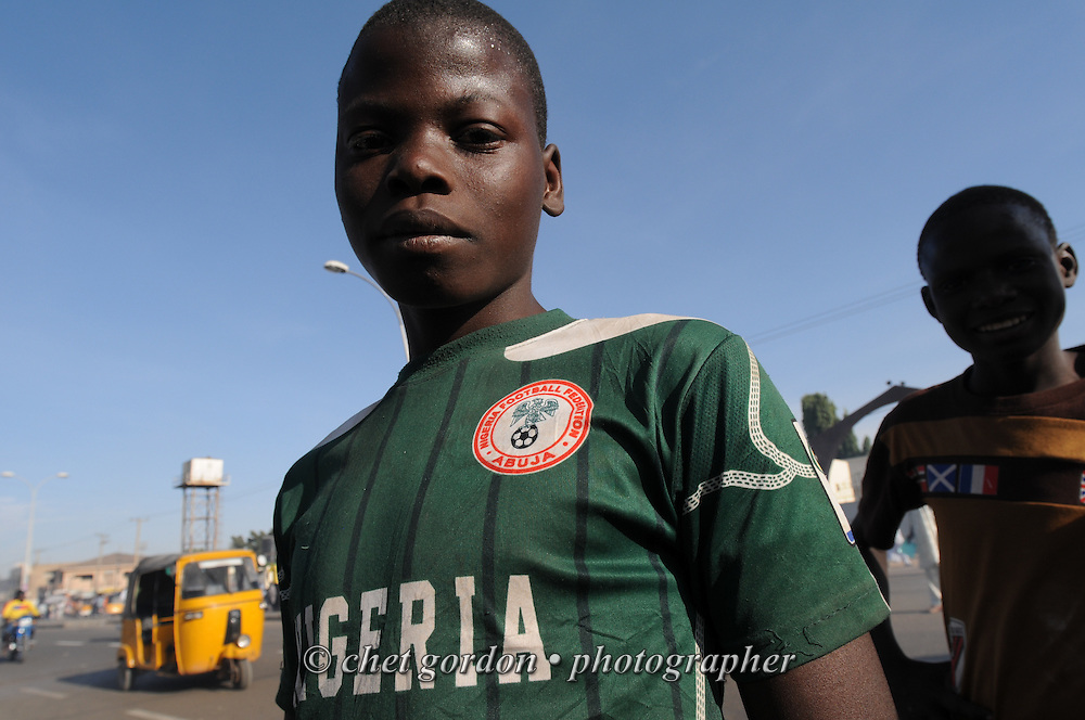 Young Nigerian boys on Kofar Mata Road in Kano, Nigeria on Thursday afternoon, December 5, 2012.