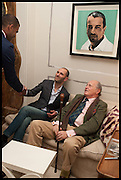 Nicky Haslam hosts a party to launch a book by  Maureen Footer 'George Stacey and the Creation of American Chic' . With a foreword by Mario Buatta. Kensington. London. 11 June 2014
