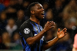 November 6, 2018 - Milan, Italy - Kwadwo Asamoah of Inter Milan reacts during the Group B match of the UEFA Champions League between FC Internazionale and FC Barcelona on November 6, 2018 at San Siro Stadium in Milan, Italy. (Credit Image: © Mike Kireev/NurPhoto via ZUMA Press)