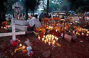 MEXICO, PATZCUARO, FESTIVALS Days of the Dead; night long vigil