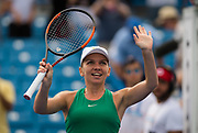 Simona Halep of Romania celebrates the victory during the semi-final of the 2018 Western and Southern Open WTA Premier 5 tennis tournament, Cincinnati, Ohio, USA, on August 18th 2018, Photo Rob Prange / SpainProSportsImages / DPPI / ProSportsImages / DPPI