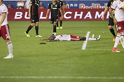 September 27, 2017 - Harrison, New Jersey, United States - Bradley Wright-Phillips (99) of Red Bulls reacts after missed shot during regular MLS game against DC United at Red Bull Arena Game ended in draw 3 - 3  (Credit Image: © Lev Radin/Pacific Press via ZUMA Wire)