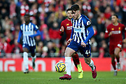 Brighton and Hove Albion forward Aaron Connolly (44) during the Premier League match between Liverpool and Brighton and Hove Albion at Anfield, Liverpool, England on 30 November 2019.