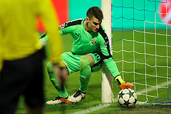 Dominik Livakovic of GNK Dinamo Zagreb during football match between GNK Dinamo Zagreb and Olympique Lyonnais in Group H of Group Stage of UEFA Champions League 2016/17, on November 22, 2016 in Stadium Maksimir, Zagreb, Croatia. Photo by Morgan Kristan / Sportida